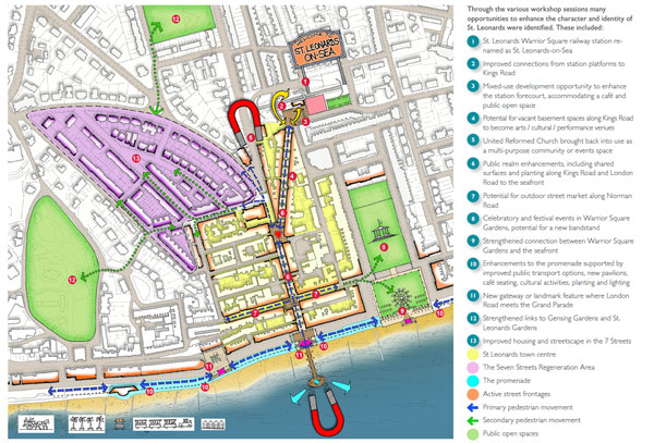 Masterplanning for St Leonards by JTP and St Leonards community