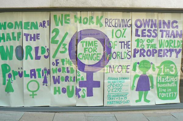 F-ish Gallery Hastings International Women's Day Feminist Occupation