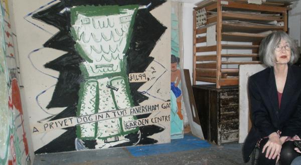 Rose Wylie artist in her studio