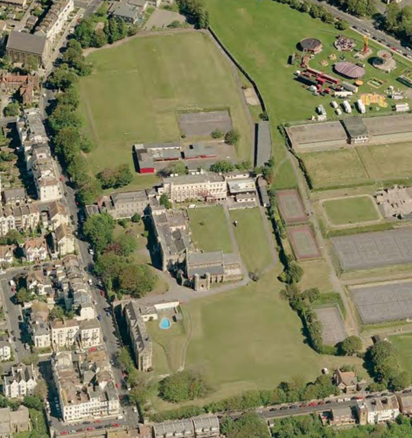 Magdalen Road Convent site, arial view