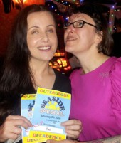 OD's Pink Minx with the lucky Bingo winner who got FREE TICKETS to the Seaside Special!