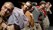 Hofesh Shechter performing Uprising. Photograph by Andrew Lang