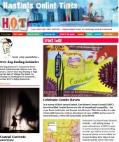 Hastings Online Times front page