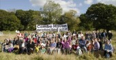 Anti road protesters at Combe Haven