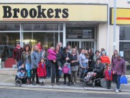 Flash Mob outside Brookers in Norman Road, St Leonards, by Gemma Nwankwo & Natasha Hill