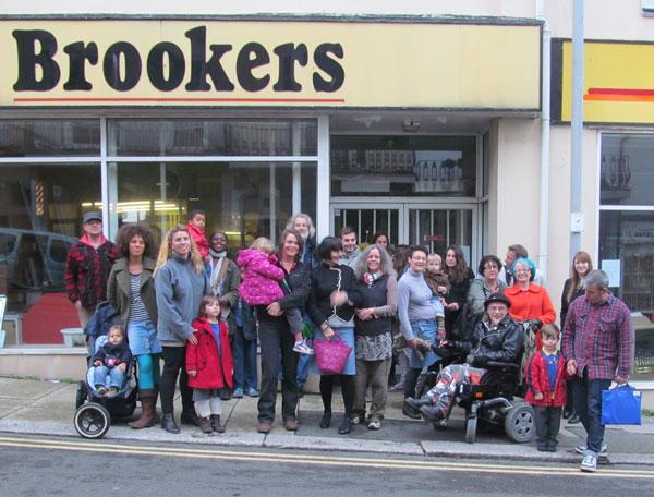Flash Mob outside Brookers in Norman Road, St Leonards, by Gemma Nwankwo & Natasha Hill