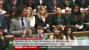 Solomon Curtis at the House of Commons