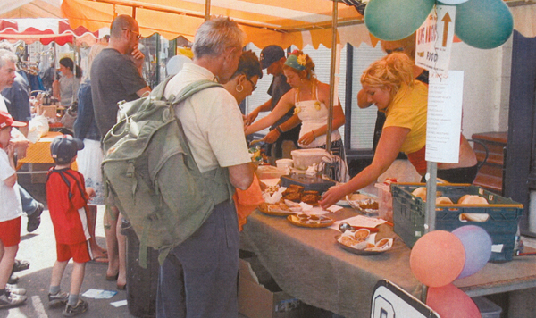 Market stall in Kings Road for St Leonards Festival 2006