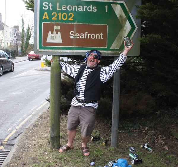 St Leonards pirate street drinker