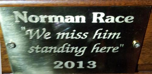 Norman Race plaque