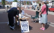 Anti-Link Road Petition stall in Sidley