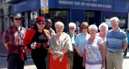 Local residents share their own red carpet moment outside the Odeon. Some of them were extras in Byzantium. Look out for them in the cafe scene!