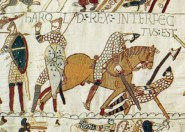 Bayeux Tapestry showing Harold's demise