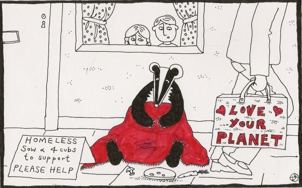 Homeless badger
