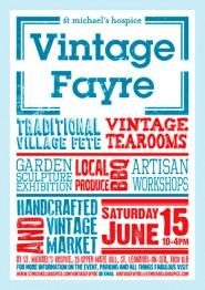 St Michael Hospice vintage fair poster