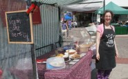 Where it all began - Shelley at the cake stand in Hastings market.