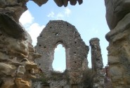 Medieval ruins at Crowhurst Manor.