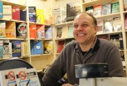 Tim Barton in his new bookstore (photo: Marci Buzkova).