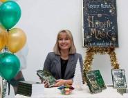 K D Faerydae at book signing