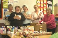 Packing Christmas hampers (photo: Surviving Christmas).
