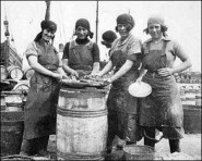 The herring girls came to town, progressing down the east coast