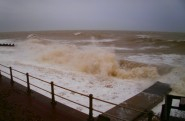 The sea off Warrior Square at midday on Friday.