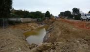Excavation for the Egerton Stream flood compensation photo ESCC