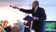 Auctioneer Martin Phillips at work at last year's HAF auction.