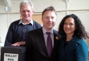 Nick with his partner Ruth, and Association Chair Chris Lewcock