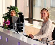 Receptionists at a work placement