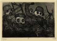 Stormtroops advancing under a gas attack