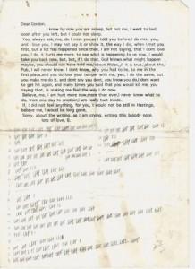 Dear Gordon letter
