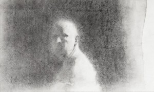 Ken Currie Study for 'Self Portrait December'