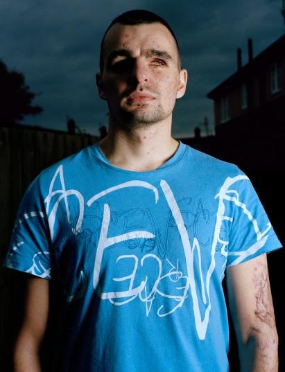 British soldier (blinded in Iraq) Liverpool 2007
