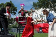 Barefoot Opera previews Carmen at St Leonards Festival Opera Garden Party July 2014     Photos by Runa Park www.runaland.com