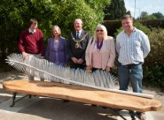 Behind the new bench, from left, Alan and Fiona Wright, mayor Cllr Bruce Dowling, deputy mayor Cllr Judy Rogers and Jake Bowers.