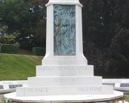Palestine - a theatre of war according to the war memorial in Alexandra Park.