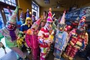 The Cajun Mardi Gras Troupe, getting ready to rock and roll (John Fox Photos)