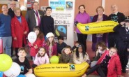 Going bananas at the Fairtrade breakfast.