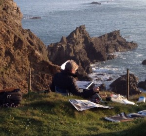 Sally Cole working in Pembrokeshire