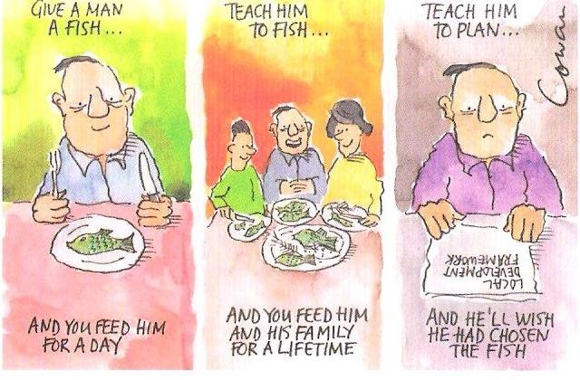 Planning cartoon by Rob Cowan
