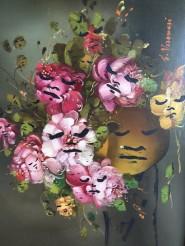 © Jeffrey Louis-Reed Overpainted boring flower painting
