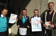 James Bacon with some of the pupils who took part in Walk to School Week (photo: James Bacon).