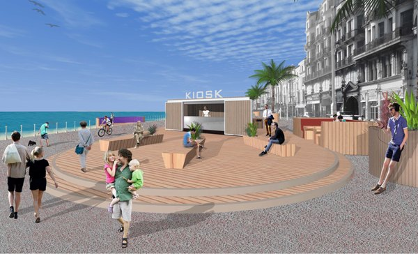 Artist's impression of how the remodelled promenade may look.