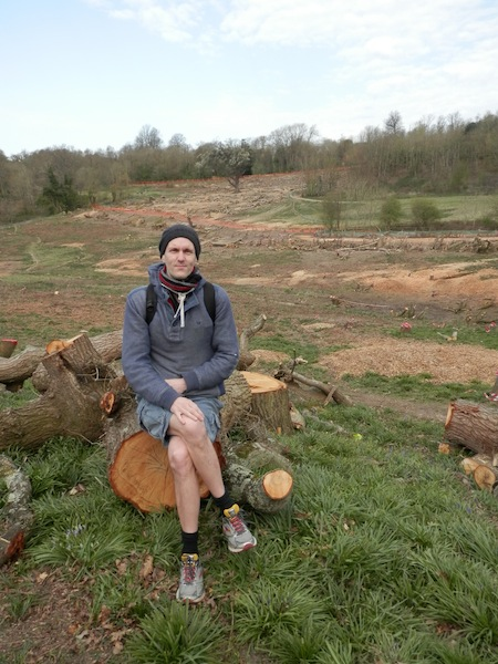 Gabriel Carlyle in Hollington Valley, proposed site of Queensway Gateway road