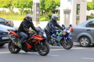 Motorcyclists in traffic (Dreamtime photo)