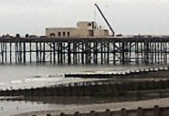 The restoration of Hastings Pier - a new building arises.