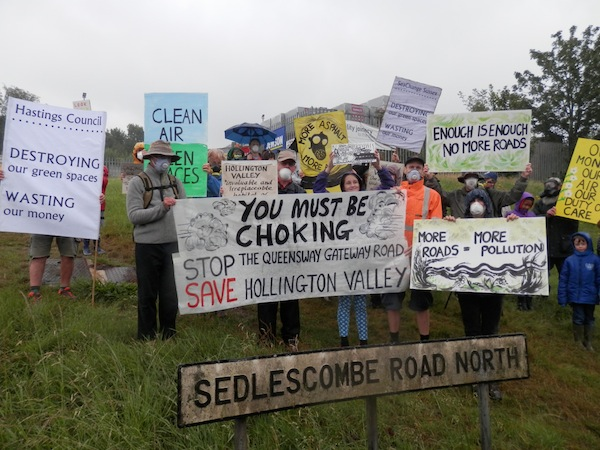 Local campaigners raising awareness of air pollution threat Photo CHDs