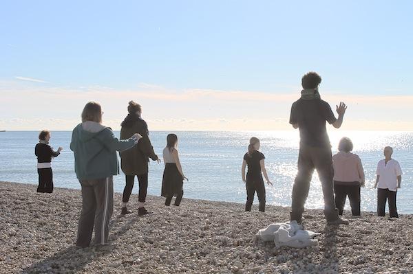 Practising on the beachPhoto Mark Barwell