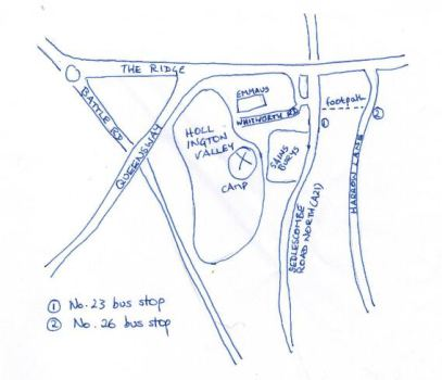 Pop-up camp map Photo CHDs